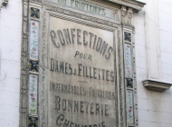 Old au Printemps (now a large Department Store) sign in Pont Audemer
